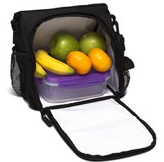 Lunch Box by Freddie and Sebbie - Luxury Insulated Freezable Cooler Tote Bag, For Adults Women & Kids