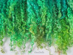hand dyed Wensleydale Curly Locks