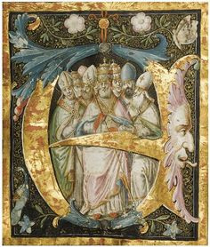Historiated and illuminated initial 'E' (c. 1500) | Flickr - Photo Sharing!