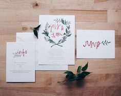 floral wreath bohemian wedding invitation // THE by lostandsound