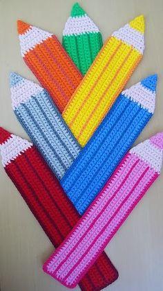 017 Pencil Bookmark Amigurumi Crochet Pattern by LittleOwlsHut Crochet Bookmarks, Crochet Books, Crochet Home, Crochet Gifts, Crochet Motif, Crochet Flowers, Crochet Stitches, Diy Crochet, Plastic Canvas Crafts