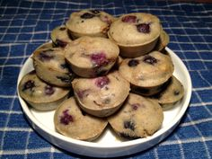 Gluten Free Dairy Free Blueberry pancake bites -- an easy single flour recipe with no Xanthan gum required!