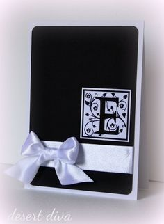 monogram card. I like this. simple and elegant