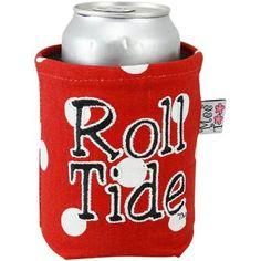Alabama Crimson Tide Crimson Polka Dot Canvas Can Koozie