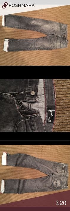 Hause light black jeans men's In good shape, the rolled bottom is only for style. Hause Jeans Straight