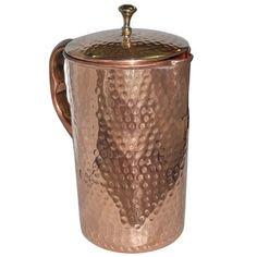 Pure Copper Jug with Lid for Health Benefits ART & Technology http://www.amazon.com/dp/B00O8L67VI/ref=cm_sw_r_pi_dp_zqk.ub1FSATNT