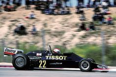 "Gianclaudio Giuseppe ""Clay"" Regazzoni (SUI) (Team Tissot Ensign with Castrol), Ensign N177 - Ford-Cosworth DFV 3.0 V8 (RET)  1977 Spanish Grand Prix, Circuito Permanente del Jarama"