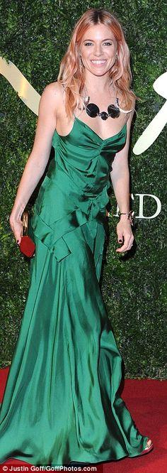 Sienna Miller @ 2013 British Fashion Awards
