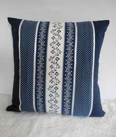 Your place to buy and sell all things handmade Blue Cushion Covers, Handmade Cushion Covers, Handmade Cushions, Polka Dot Fabric, Blue Polka Dots, Blue Pillows, Throw Pillows, White Sheets, Cover Pillow