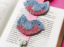 Crocheted Bluebird Bookmark... a sweet and relatively quick crochet project for a relaxing summer night.