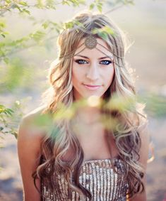 Bohemian Hairstyle for Long Wavy Hair