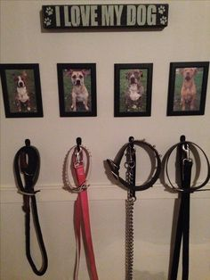 Dog Walking Station #Pitbull #Dog #DIY Every one should have this it makes life a lot easier!