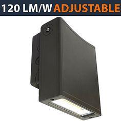 5000K Daylight White 120 Lumens//Watt Waterproof Security Area Light 400W HPS//HID Replacement 100-277 Volt Outdoor 80W us green lighting Slim Adjustable WallPack DLC Listed UL