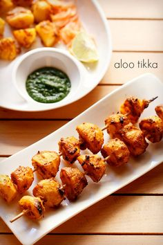 - Aloo Tikka -  indian spicy,marinated boiled potatoes -  grilled in oven or grilled, nice at bbq..