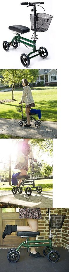 Crutches: Kneerover Steerable Knee Scooter - Green 609224630279 BUY IT NOW ONLY: $206.84