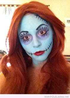 The disney diner diy halloween costumes for the whole family over sally doll halloween makeup solutioingenieria Choice Image