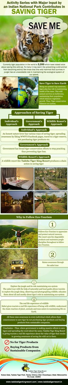 Activity Series with Major Input by an #IndianNationalPark Contributes in Saving Tiger http://goo.gl/MSdnWZ