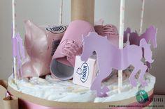 "Diaper Cake - Torta di pannolini ""Carosello"""