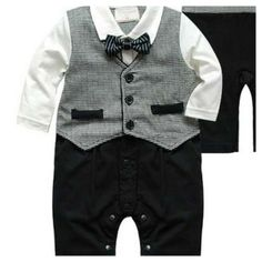 Snap-up Little Man Suit - Clearance from Stripes Boutique for $15 on Square Market
