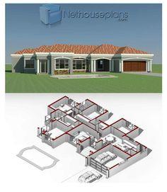 House Floor Design, Home Design Floor Plans, Small Modern House Plans, Beautiful House Plans, 4 Bedroom House Designs, 4 Bedroom House Plans, House Plans For Sale, House Plans With Photos, House Construction Plan