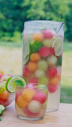 Melon Ball Punch #Food #Drink #Trusper #Tip