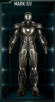 The Mark XIV (14), was the last Advanced Iron Man Suit, and was the fourteenth suit built and created by Tony Stark, sometime after the events of The Avengers...
