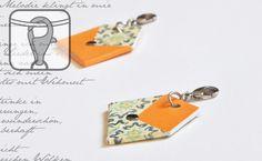 Papier Anhänger Brief Orange-Beige (35311) www.s-chick.de