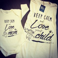 Tshirt for mom and body for baby - Present new born - www.momeme.it