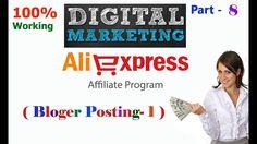 Digital Merketing AliExpress Affiliate Program Bangla Part-8| Bloger Pos...