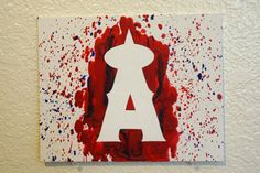 Los Angeles Angels Melted Crayon Art