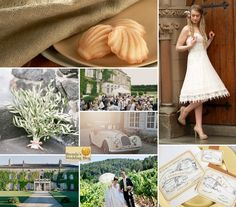 Vintage French Themed Wedding Inspiration Board with Gourmet Delectables from Donsuemor