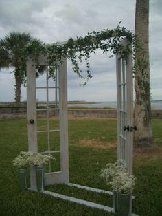 rustic & romantic doorway arch