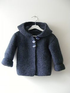 Paletot à capuche / Hooded baby jacket by Mme Bottedefoin - free