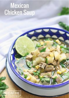 Low Carb Mexican Chicken Soup - a gluten free, keto, atkins, lchf and Paleo friendly soup recipe from I Breathe Im Hungry