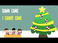 Five Candy Canes | Kids Christmas Songs | Lyrics | Kids Christmas Songs - YouTube