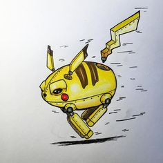 155. Pika-droid. One day late for pokemons 20th birthday but whatever. I'm going to do one robot Pokémon a day until next sunday in celebration of 20 years so stay tuned if you likes this pikachu! #PokemonIN #pokemon #nintendo #fanart #art #arts #artsy #artist #artwork #artoftheday #drawing #draw #daily_challenge #sketch #sketchy #sketching #sketchaday #sketchbook #illustrator #illustration #illustratenow #talentedpeopleinc #talnts #haveagreatday #pencil #micronpen #micron #fineliner…