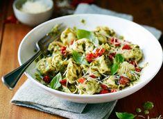 Pesto pasta. Photo by Steve Krug.