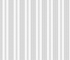 Stripes and Dots - Grey Pearl fabric by glimmericks on Spoonflower - custom fabric