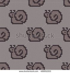 Knitted seamless child pattern snails