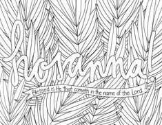 just what i {squeeze} in: Hosanna! -- Coloring Page #8