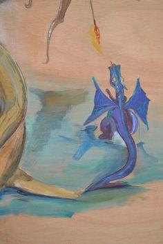 """acrylique sur bois , pour  marché de P""""rouges Dragons, Painting, Art, Woodwind Instrument, Art Background, Painting Art, Kunst, Paintings, Performing Arts"""