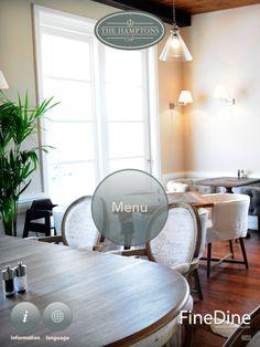 The Hamptons Café Tablet Digital Menu in Arabic, English, Russian Digital Menu, Menu Design, Menu Restaurant, The Hamptons, Beach House, Living Rooms, Dubai, English, Dessert
