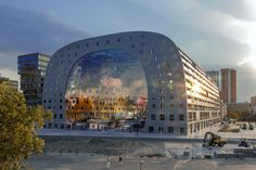 Markthal Rotterdam in Construction