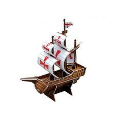 Paper Toy Scale Model Kit for Kids Adult - The Santa Maria(Small Size)
