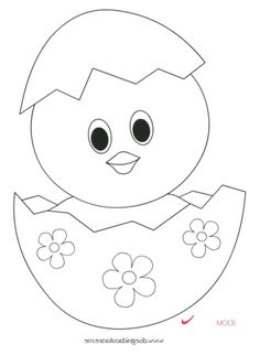 Easter Drawings, Art Drawings For Kids, Drawing For Kids, Cute Drawings, Art For Kids, Easter Coloring Pages, Animal Coloring Pages, Rabbit Drawing Easy, Easter Crafts For Kids