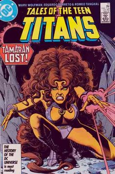 Tales of the Teen Titans #77 Jericho and Nightwing return to Earth. 1987. Comic Book Pages, Comic Book Covers, Comic Book Heroes, Comic Books Art, Comic Art, Book Art, Nightwing And Starfire, The New Teen Titans, Marvel Wall Art