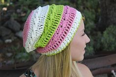 Crochet Pattern - SOMO Slouchy Beanie  Zipper Flower on Ravelry.com