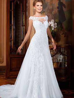Vestido De Noiva A linha De apliques Csutomize elegante Vestido De casamento Vestido De Noiva Vestido De Noiva em Vestidos de noiva de Casamentos e Eventos no AliExpress.com | Alibaba Group