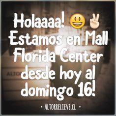 Hola querid@s! Estamos desde hoy viernes al domingo 16 en el Mall Florida Center! #feria #chile #altorrelieve #altorelieve #feriaverde #eco #madera #wood #aros #pulseras #collares #amor! #love