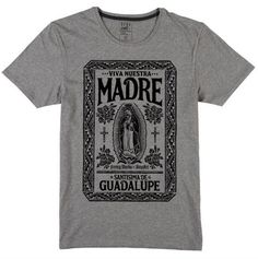 Nuestra Madre - T-Shirt homme Blusas T Shirts, Tee Shirts, Tee Shirt Designs, Tee Design, Buy T Shirts Online, Swag Style, Printed Tees, Graphic Tees, Mens Fashion